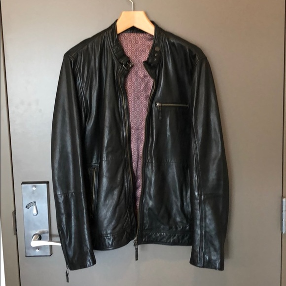 861c0ac2d Ted Baker Visery Leather Cafe Racer. M 5bd23222fe515120725e77db